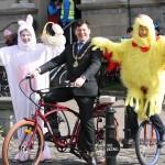 Mayor of Sligo, Clr. David Cawley 400 Charter Fun Cycle on Good Friday.