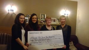 Ita, Sarah, Patricia and Mary McManus presenting a cheque to FSRH proceeds of a recent fundraising walk in memory of the Late Felix McManus.  Unavoidably absent from the photograph is Oliver McManus