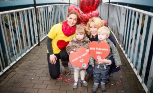 Amelda, Lucia and Conor Maguire pictured with Michele Henry of the Heart €2 Heart Fundraising Committee