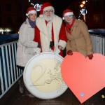 Santa supporting the Heart 2 Heart campaign.