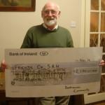Sean McKeown presenting Cheque to FSRH for €2,170