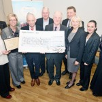 John McKeon Pet Stop Discount Warehouse & Fuel Centre presenting a cheque for €44,836.55c to Friends of Sligo Regional Hospital for Cardiac Services at the hospital