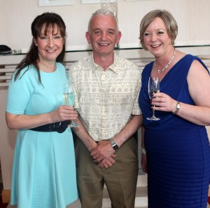 Guest Speaker Pauline McLynn pictured with John McKeon, Pet Stop Discount Warehouse & Fuel Sponsor - Main Sponsor of the event and Mary Tighe FSRH