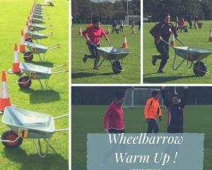 Wheelbarrow Warm Up !