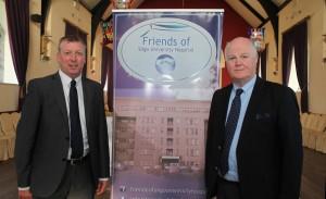 Aidan Doyle (Sligo Chamber of Commerce and Gerry Mc Manus (Chairman, Friends of SUH).