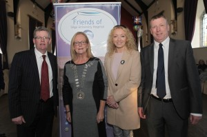 Cllr Hubert Keaney, Cllr Rosaleen O'Grady (Mayor of Sligo Municipal Council), Cllr Msrie Casserly and Aidan Doyle (Sligo Chamber of Commerce).