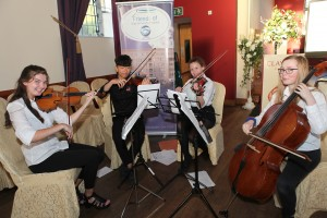 Eve Scanlon, Yujin Park, Grace Burke and Emily Roberts (Sligo Academy of Music) provided the entertainment for the evening.